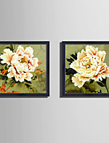 Botanical Floral/Botanical Still Life Framed Canvas Framed Set Wall Art,PVC Material With Frame For Home Decoration Frame Art Living Room