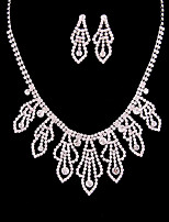 Women's Jewelry Set Bridal Jewelry Sets Classic Fashion Wedding Party Silver Plated 1 Necklace Earrings