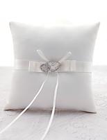 oreiller anneau de soie satin métallique cérémonie de mariage