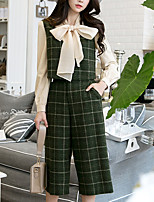 Women's Going out Daily Simple Vintage Street chic Fall Tank Top Pant Suits