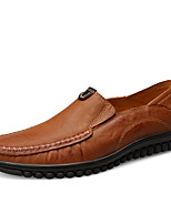 Men's Shoes Nappa Leather Spring Fall Comfort Loafers & Slip-Ons For Casual Party & Evening Khaki Brown Black