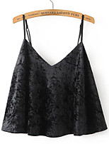 Women's Daily Street chic Tank Top,Solid Strap Sleeveless Cotton