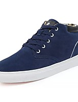 cheap -Men's Shoes Suede Winter Comfort Sneakers For Casual Gray Dark Blue Black