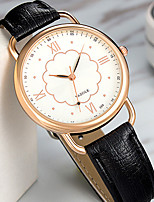 YAZOLE Mulheres Relógio Casual Relógio de Moda Chinês Quartzo PU Banda Flor Vintage Elegant Relógios com Palavras Preta Branco