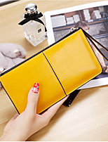 Women Bags PU Wallet Zipper for Event/Party Shopping All Season Yellow Fuchsia Light Purple Sky Blue Royal Blue