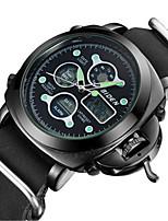 Недорогие -Муж. Повседневные часы Модные часы Наручные часы Японский Кварцевый Повседневные часы Кожа Группа На каждый день Elegant Черный Коричневый