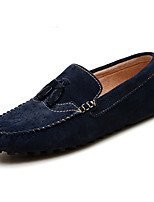 Men's Shoes Pigskin Fall Winter Moccasin Loafers & Slip-Ons For Outdoor Khaki Blue Black