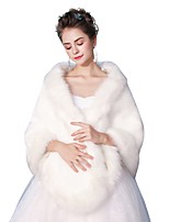 cheap -Sleeveless Faux Fur Wedding Party/ Evening Women's Wrap Shawls With Smooth