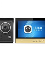 Large Screen 9 Inch Color Recording Monitor Video Door Phone Intercom System with CMOS Outdoor Camera