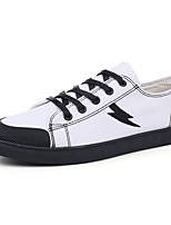 cheap -Men's Shoes PU Fabric Fall Comfort Sneakers For Casual Black White