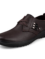 Men's Shoes Cowhide Spring Fall Comfort Oxfords For Casual Brown Black