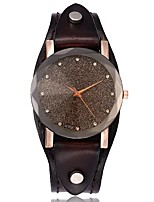 cheap -Women's Casual Watch Fashion Watch Simulated Diamond Watch Chinese Quartz Chronograph Genuine Leather Band Vintage Casual Cool Elegant