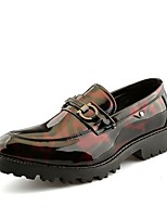 Men's Shoes Leatherette All Season Spring Comfort Novelty Loafers & Slip-Ons Sequin For Casual Red Black