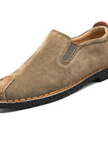 Men's Shoes PU Spring Fall Comfort Loafers & Slip-Ons For Outdoor Khaki Gray Black