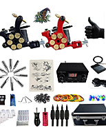 Professional Tattoo Kit Twins 2 Tattoo Machines Dual  Power Supply Inks Not Included