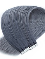 billige -neitsi 20 '' 50g 20st tape i remy russina menneskelige hair extensions lige dobbelttrukne hudvæv forlængelser