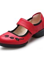 Women's Dance Sneakers Leatherette Split Sole Sneaker Outdoor Pattern/Print Low Heel Red Black White 1