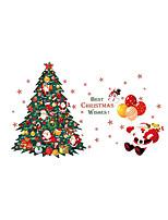 Botânico Natal Pessoas Adesivos de Parede Autocolantes de Aviões para Parede Autocolantes de Parede Decorativos,Vinil Material Decoração