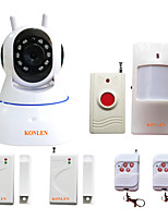 KONLEN® WIFI Wireless Home Alarm Security System for Burglar Anti theft Intruder Camera Video Recording with 433MHZ Sensors Panic Button