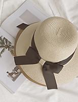 Women's Knitwear Straw Hat,Cute Party Solid Fall