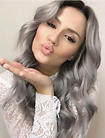 Women Synthetic Wig Lace Front Long Loose Wave Black/Grey With Baby Hair Party Wig Natural Wigs Costume Wig