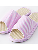 Women's Shoes Linen Spring Fall Comfort Slippers & Flip-Flops For Casual Light Blue Pink