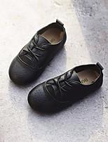 Недорогие -Девочки обувь Натуральная кожа Весна Осень Удобная обувь Кеды для Повседневные Белый Черный