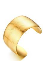 Недорогие -Жен. Браслет цельное кольцо Браслет разомкнутое кольцо Винтаж Elegant Титановая сталь Позолота 18К Бижутерия Назначение Свадьба Обручение