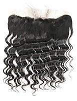 cheap -Remy Peruvian Natural Color Hair Weaves Loose Wave Hair Extensions 1pc Black