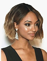 Women Synthetic Wig Bob Cut Brown Ombre Short Hairstyle Celebrity Wig Full Wigs