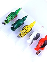 5 pcs Frog g/Ounce mm inch,Plastic Freshwater Fishing Lure Fishing