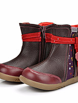 cheap -Girls' Shoes Pigskin Winter Fall Fashion Boots Boots Booties/Ankle Boots for Casual Burgundy