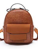 Women Bags PU Backpack Zipper for Casual All Season Brown Green Black Purple