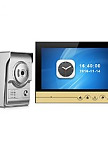 9 Inch Color Recording Monitor Video Door Phone Intercom System with Night Vision Camera Door Bell Intercom