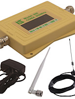 Mini Intelligent LCD Display CDMA980 850MHz Mobile Phone Signal Booster Repeater with Outdoor Sucker Antenna / Indoor Whip Antenna Yellow