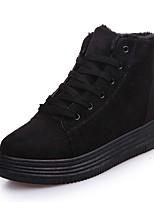 preiswerte -Damen Schuhe Nubukleder Winter Springerstiefel Stiefel Runde Zehe Mittelhohe Stiefel Für Normal Schwarz Grau