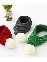 Dog Dog Scarf Dog Clothes Warm Casual/Daily British Gray Red Green Costume For Pets