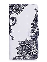 economico -Custodia Per Apple iPhone X / iPhone 8 A portafoglio / Porta-carte di credito / Con supporto Integrale Fiore decorativo Resistente pelle sintetica per iPhone X / iPhone 8 Plus / iPhone 8