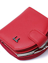 Women Bags PU Wallet Buttons Pockets for Casual All Season Black Red