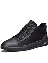 cheap -Men's Shoes PU Fall Winter Comfort Sneakers For Casual Black/Red Black
