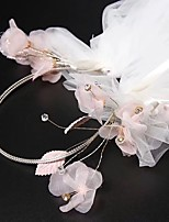 cheap -One-tier Sweet Style Wedding Veil Headpiece 53 Embroidery Organza