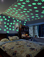 50PCS/Set Colorful Luminous Home Snowflake Wall Sticker Glow In The Dark Decal for Kids Baby Rooms
