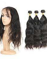 Недорогие -Натуральные волосы Реми Перуанские волосы Человека ткет Волосы Естественные волны Наращивание волос 3шт Черный
