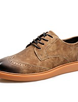cheap -Men's Shoes PU Spring Fall Light Soles Sneakers For Casual Brown Coffee Gray
