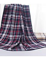 Style frais Serviette de bain,Carreaux Qualité supérieure Polyester/Coton Serviette