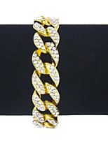 abordables -Homme Femme Chaînes & Bracelets Bracelet Strass Classique Rétro Hip hop Mode énorme Alliage Forme Géométrique Bijoux Pour Bar Soirée