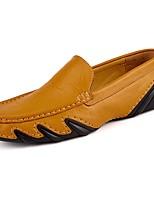 Для мужчин обувь Полиуретан Осень Зима Удобная обувь Мокасины Мокасины и Свитер Назначение Повседневные Черный Желтый Синий