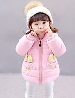 Girls' Solid Pattern Down & Cotton Padded