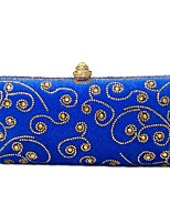 Women Bags Velvet Evening Bag Crystal Detailing for Wedding Event/Party All Season Blue