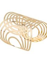 Femme Manchettes Bracelets Classique Mode énorme Alliage Forme de Cercle Bijoux Pour Quotidien